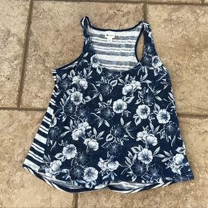 PERFECT FOR SUMMER! Floral/Striped Tank Top
